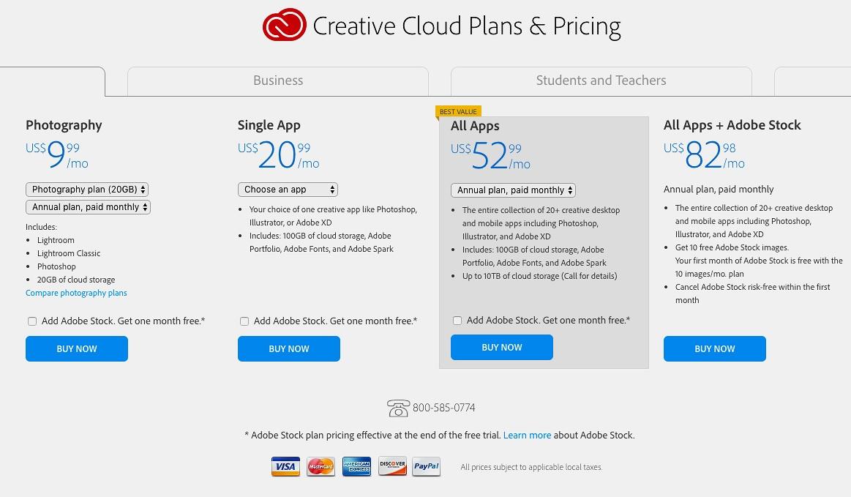 creative+cloud+pricing