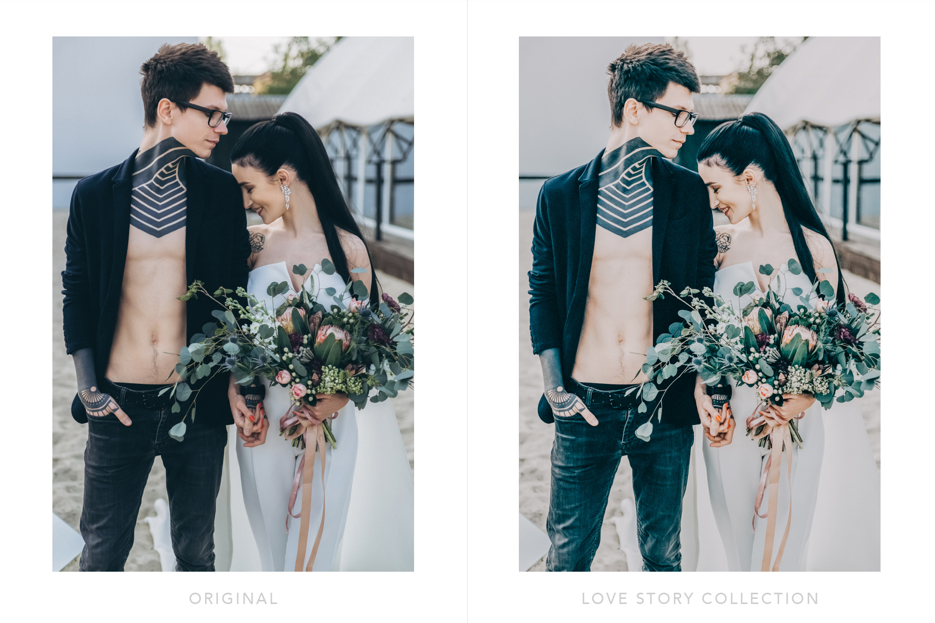 婚礼准备的照片设计
