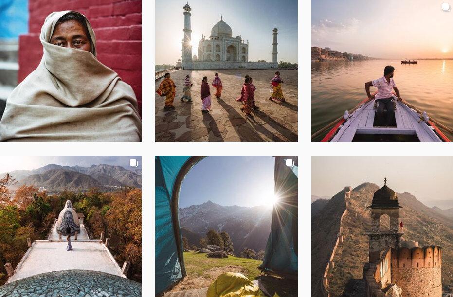 travel photo in intagram