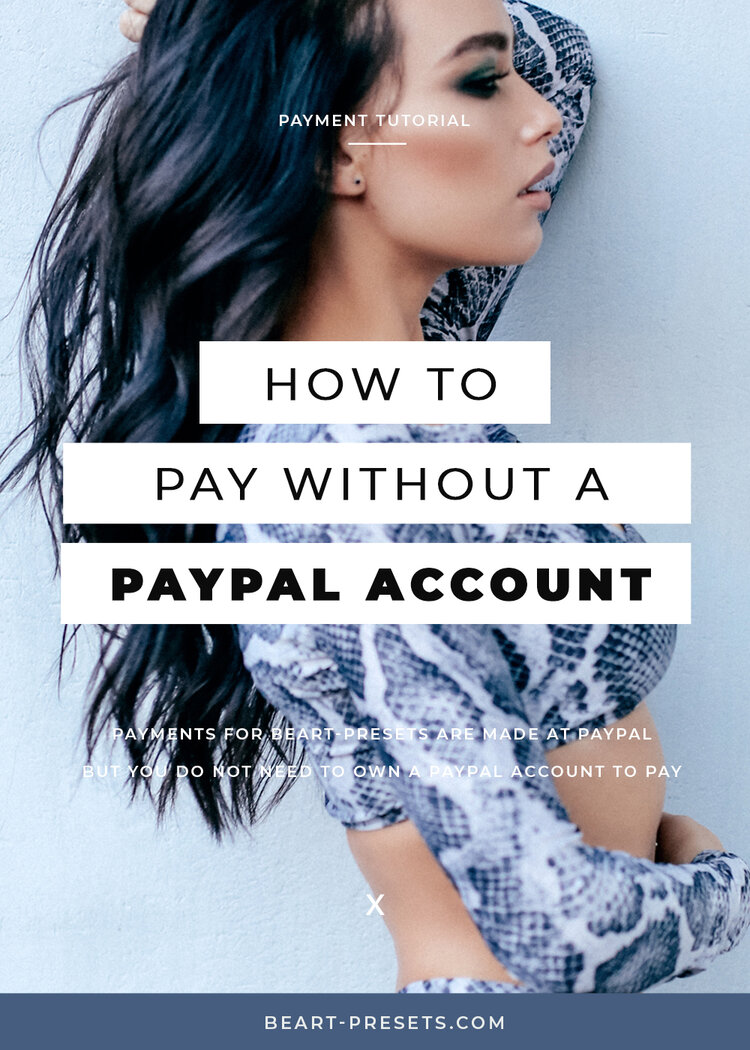 how to pay without PayPal account