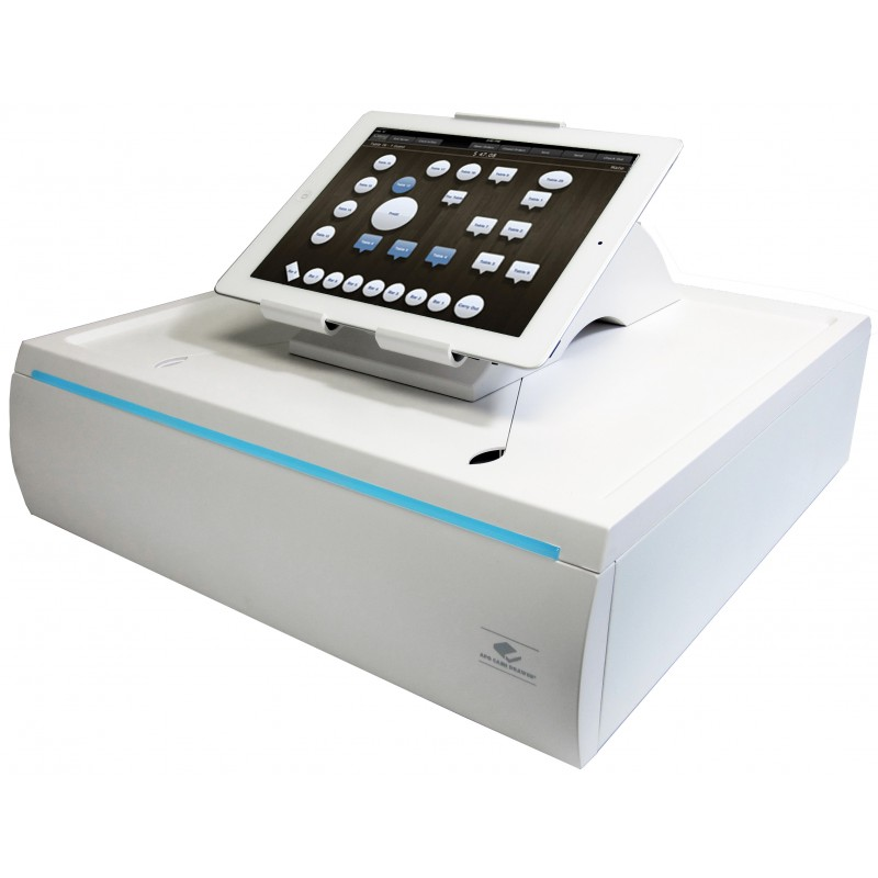 $50 - Upgrade to the APG Stratis Cash Drawer and Tablet Holder from the existing stand and cash drawer in the Lightspeed iPad Hardware Bundle
