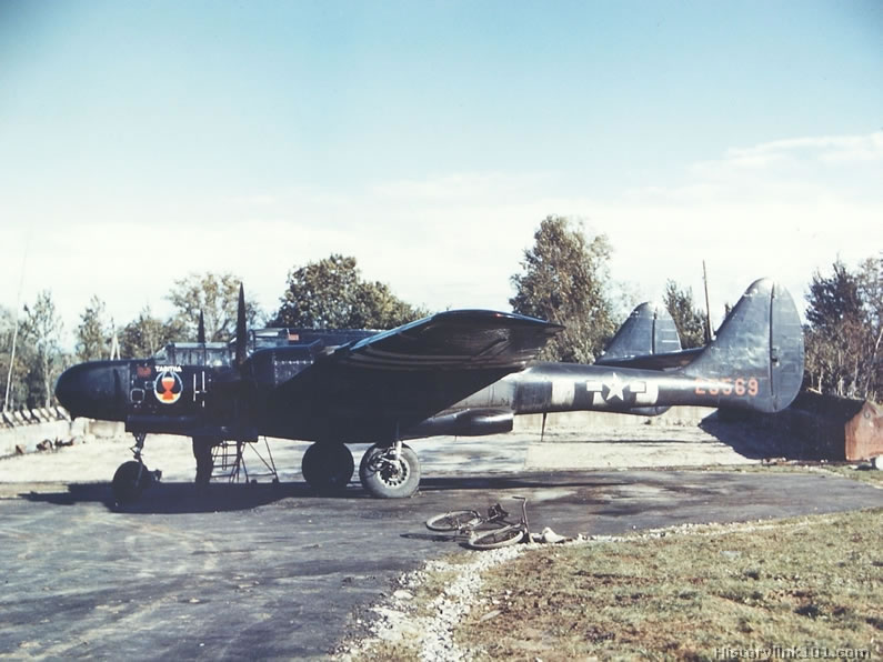 A P-61 based in England in 1944.