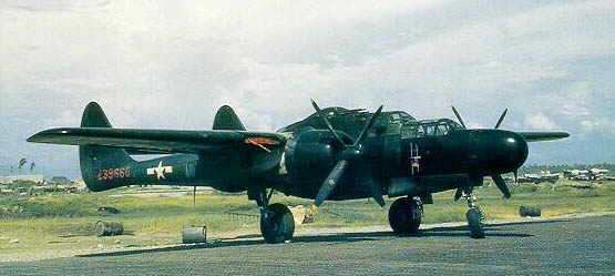 A P-61 based in the Pacific Theater.