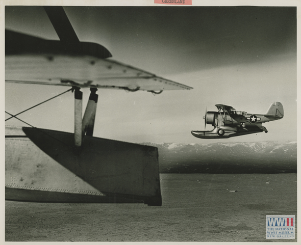 Coast Guard Grumman J2F scout planes search for German activity off the east coast of Greenland. Source: The National World War II Museum.