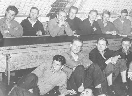 German prisoners being transported to a POW camp in the US. Source: US Coast Guard.
