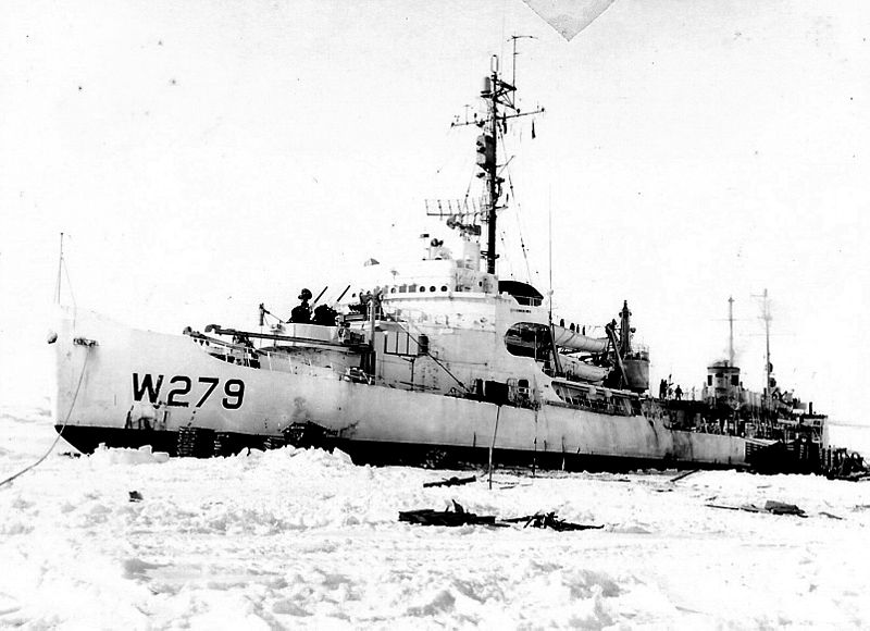 The Northland's replacement was the USCGC Eastwind (WAGB-279), a Wind-class icebreaker. Commissioned on July 15, 1944, she was much more formidable than the Northland. She was armed with 4 x 5in guns in dual turrets, 3 x quad-mounted 40mm Bofors AA guns, 6 x Oerlikon 20mm autocannons, and 6 x K-Guns and a Hedgehog projector for anti-submarine action. She also carried her own scout plane. She remained in service after the war and was finally decommissioned in 1968 and was scrapped sometime in the 1970s.