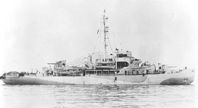 Another view of the USCGC Eastwind in her wartime configuration. Source: US Coast Guard.