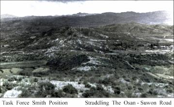 TF Smith's position as it looked at the time of the Korean War. Source: www.koreanwar.net