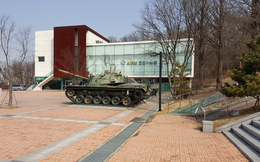 The Battle of Osan Memorial Hall, a $33M project which opened in 2013 and is located adjacent to the newer monument. Source: author.