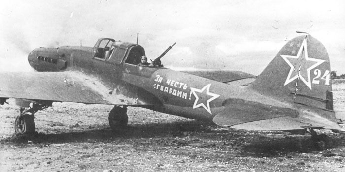 The rear gunner's position- the 12.7mm gun offered an increased chance of survival for the Il-2, though many gunners were killed in their relatively exposed position.