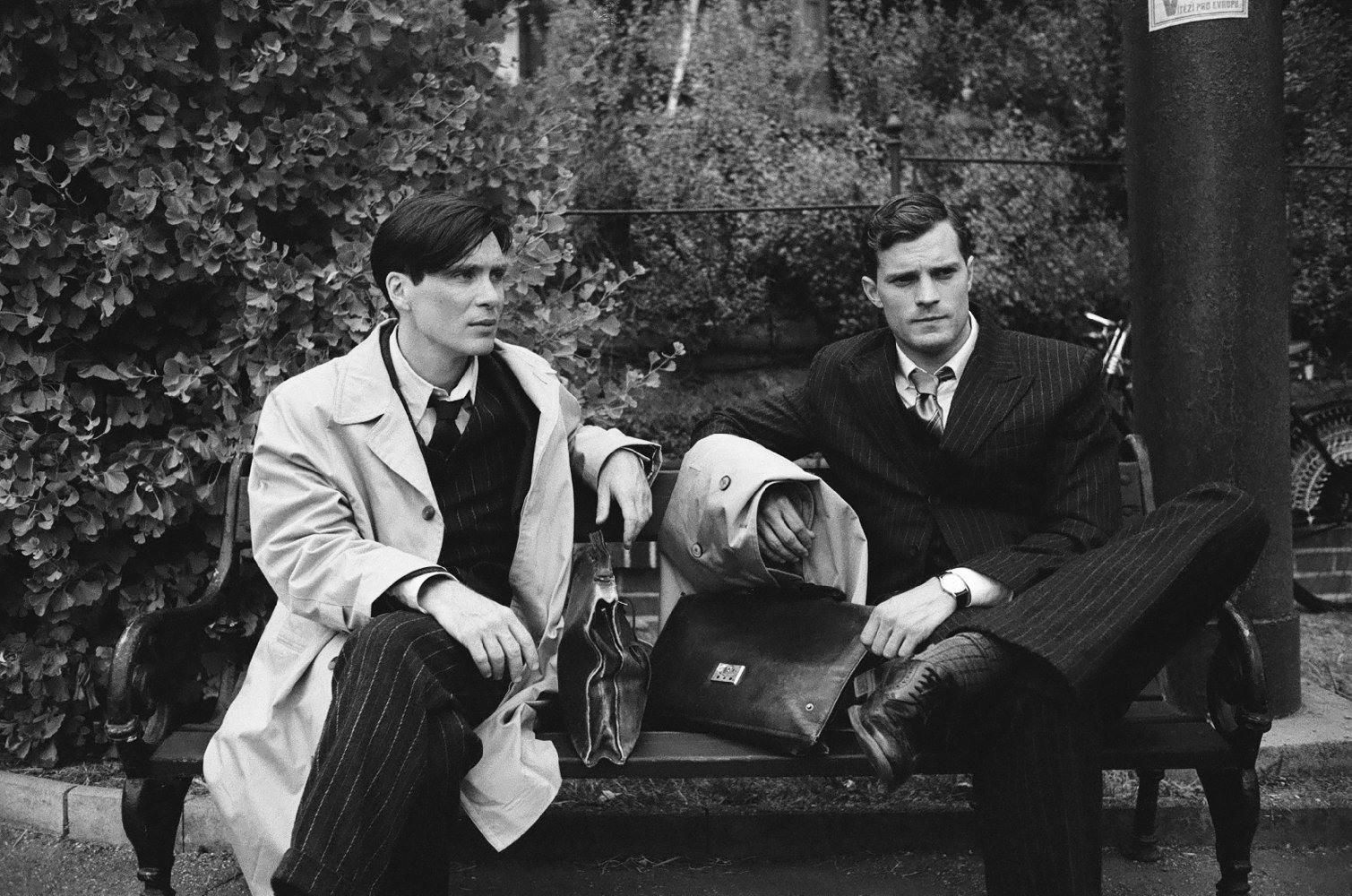 CILLIAN MURPHY, ON THE LEFT, AND JAMIE DORNAN, ON THE RIGHT, PLAYED CZECH SOLDIERS JOSEF GABCIK AND JAN KUBIS RESPECTIVELY.