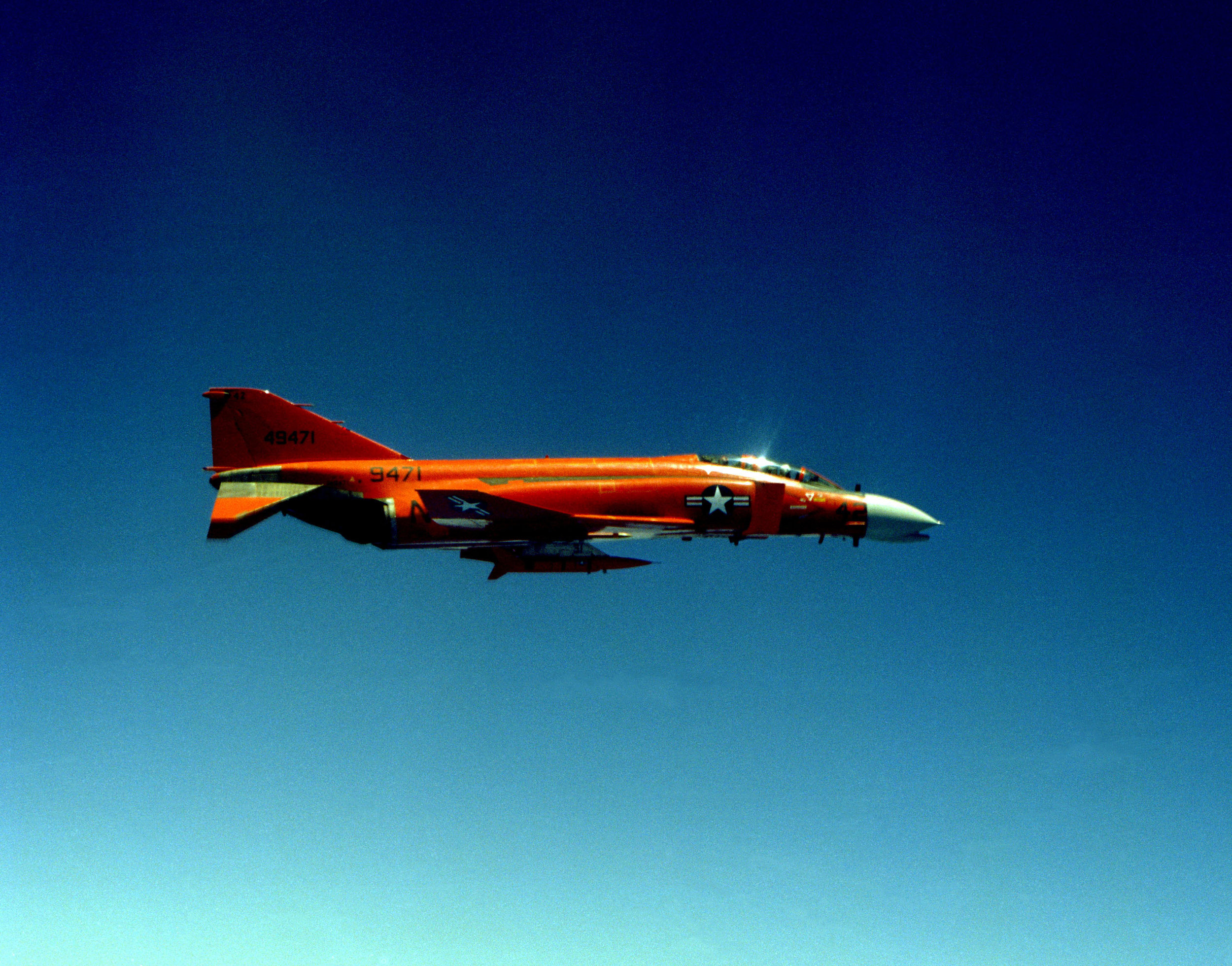A QF-4 Phantom in the early 1980s.