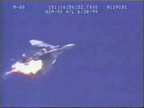 A QF-4 Phantom is expended via an air-to-air missile during a test.