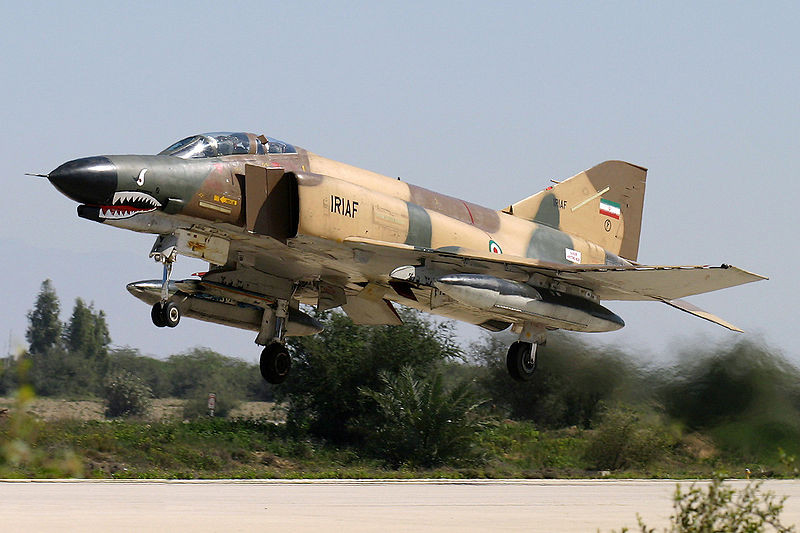 A IRIAF Phantom prepares to land. Though many purges occurred following the revolution in Iran, Iran has successfully maintained its fleet of Phantoms for several decades.