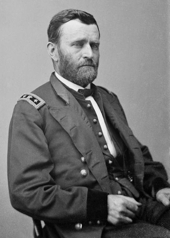 Ulysses S. Grant, pictured here as a Lieutenant General, was just a Brigadier General at the time of his campaign against Forts Henry and Donelson, and was in overall command of the Union force in Tennessee. Source: public domain.