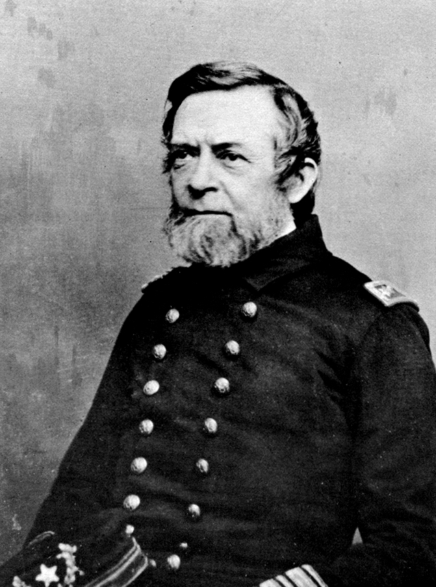 Rear Admiral Andrew Foote was one of the first US naval officer to be promoted to the rank of admiral. After commanding the Western Gunboat Flotilla through much of 1862, before moving on to other commands. He died unexpectedly in the summer of 1863 while moving to his new command with the South Atlantic Blockading Squadron. Source: Public domain.
