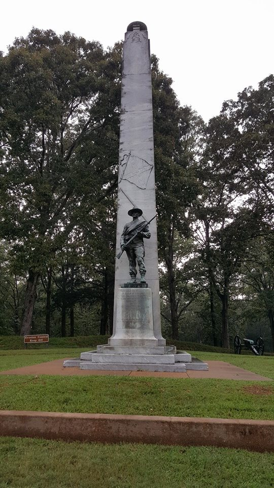 The Confederate Soldiers Memorial, erected in 1933 by the Daughters of the Confederacy. Source: Author.