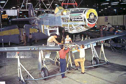 P-51D production line. Source: Wikipedia.