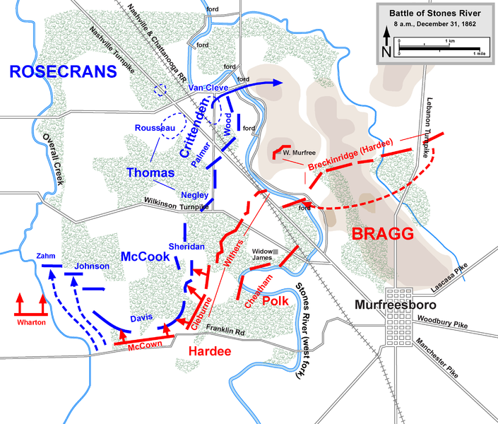 The Confederate attack on the morning of the 31st.