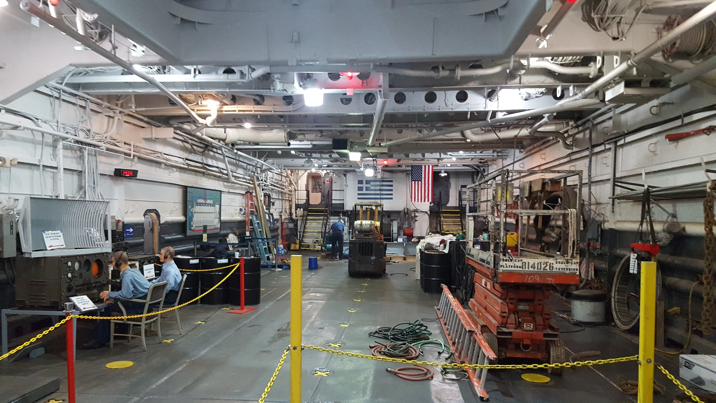 Another view of the tank deck, closer towards the aft of the ship. Photo: author.