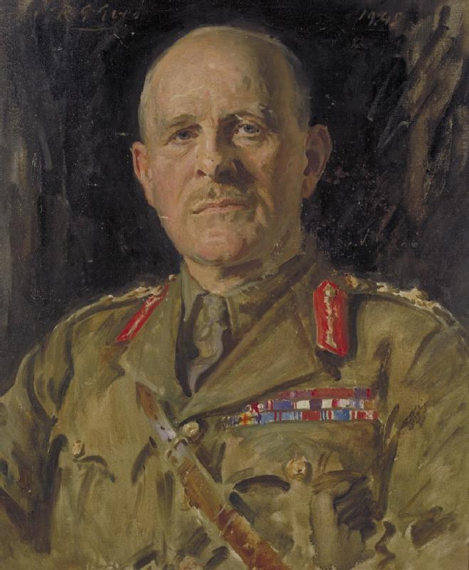 LORD FIELD MARSHAL JOHN GORT'S OFFICIAL PORTRAIT. DESPITE GORT'S DIFFICULT SITUATION AS COMMANDER OF THE BEF, HE WOULD COME UNDER HEAVY CRITICISM AS HAVING PERCEIVED TO HAVE ABANDONED THE FRENCH. GORT WOULD LATER SERVE IN THE MEDITERRANEAN AS GOVERNOR OF GIBRALTAR, AS THE GOVERNOR OF MALTA, AND LASTLY IN THE POSITION OF HIGH COMMISSIONER FOR PALESTINE AND TRANSJORDAN. PHOTO: WIKIPEDIA.
