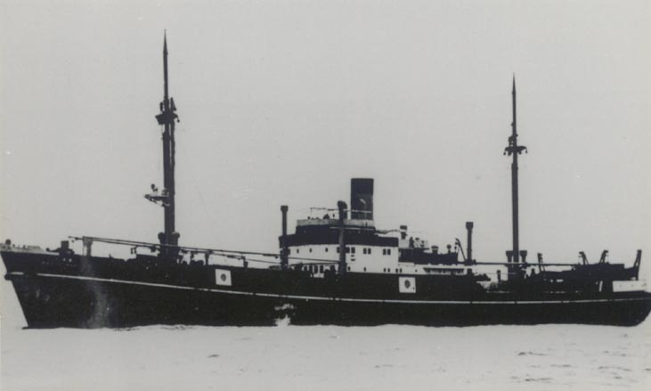 The Komet, displaying a Japanese disguise. Komet was much smaller than most of her fellow raiders, displacing just 3300 tons. Photo source: bismarck-class.dk.