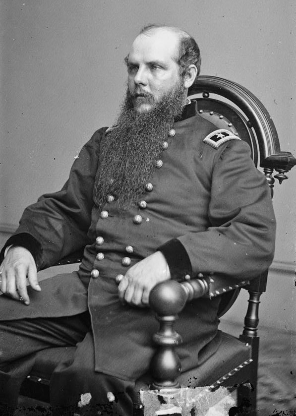 John Schofield was born in New York in 1831. A graduate of the same West Point class as John Bell Hood, Schofield became an artillery officer serving in Fort Moultrie, South Carolina. He later served in Florida before returning to West Point as an instructor. Schofield rose steadily through the ranks after the outbreak of the war, attaining various commands in the Western Theater before being appointed commander of the Army of the Ohio on February 9, 1864. Photo: Wikipedia.