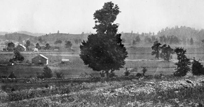 This is the view which would have appeared to Union defenders in 1864. The Confederates had to march across open terrain for nearly two miles before finally coming up to the Union line. Photo: Warfare History Network.