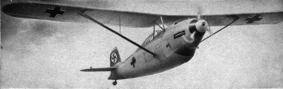 The Focke-Wulf FW 159, the nearest competitor to the Bf-109. The design was ill-fated- after a crash in 1935, the type lost a competition with the Bf 109. Photo source: Wikipedia.