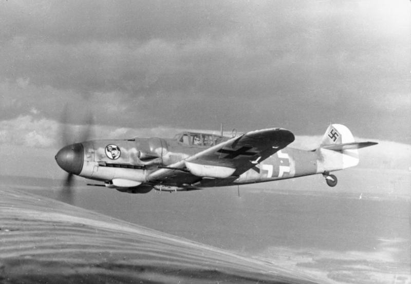 A Bf-109G from JG 27, armed with MG 151 cannons to combat heavy bombers. Photo source: Wikipedia.