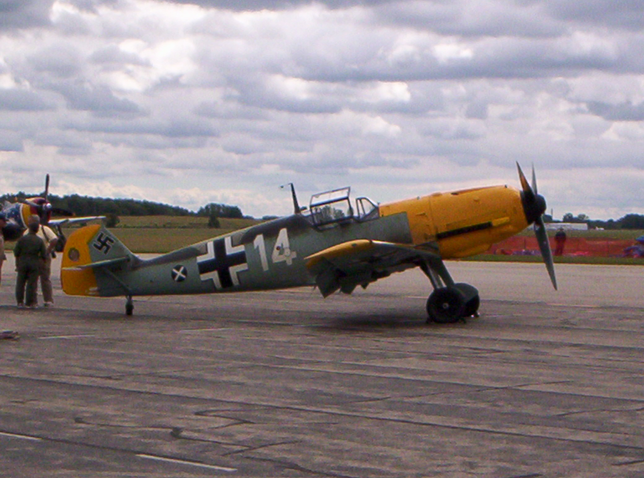 A restored Bf-109E-4, pictured at the 2008 Thunder Over Michigan Airshow. Photo source: Author.