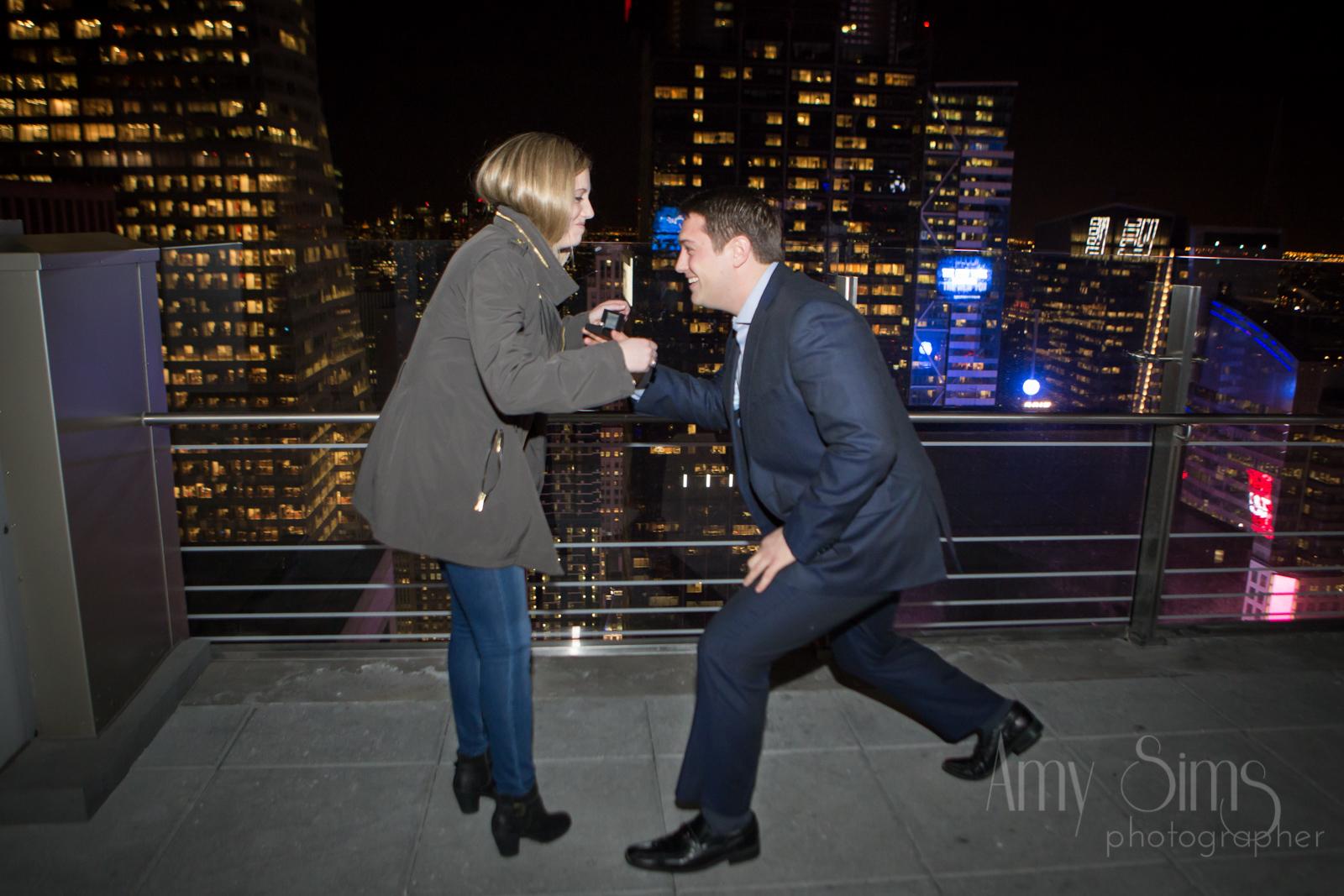 Matt & Taylor Proposal || Bar 54 Hyatt || nyc wedding photographer
