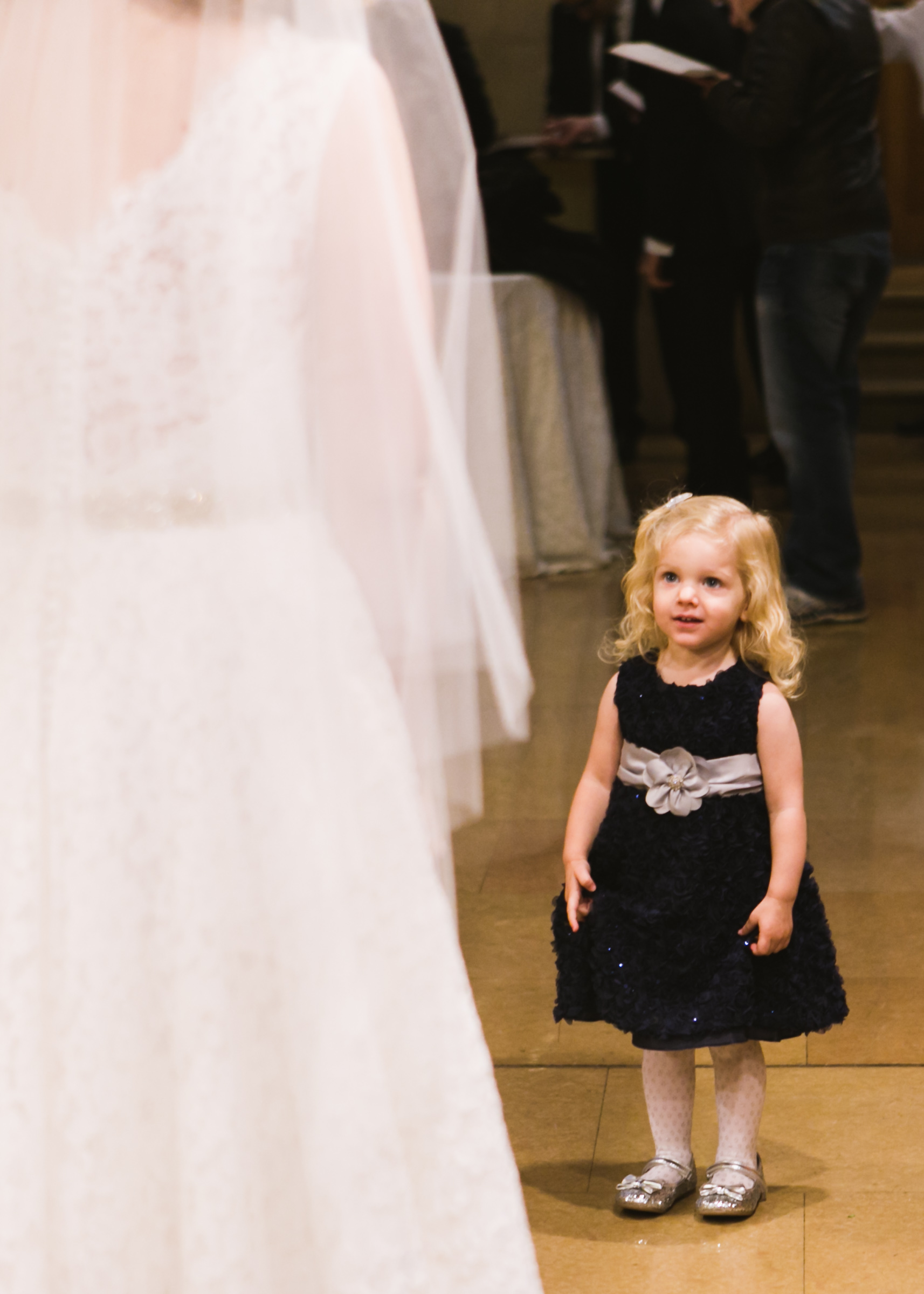 @Amy Sims Photography | New York Wedding Photography | Little girl sees Bride