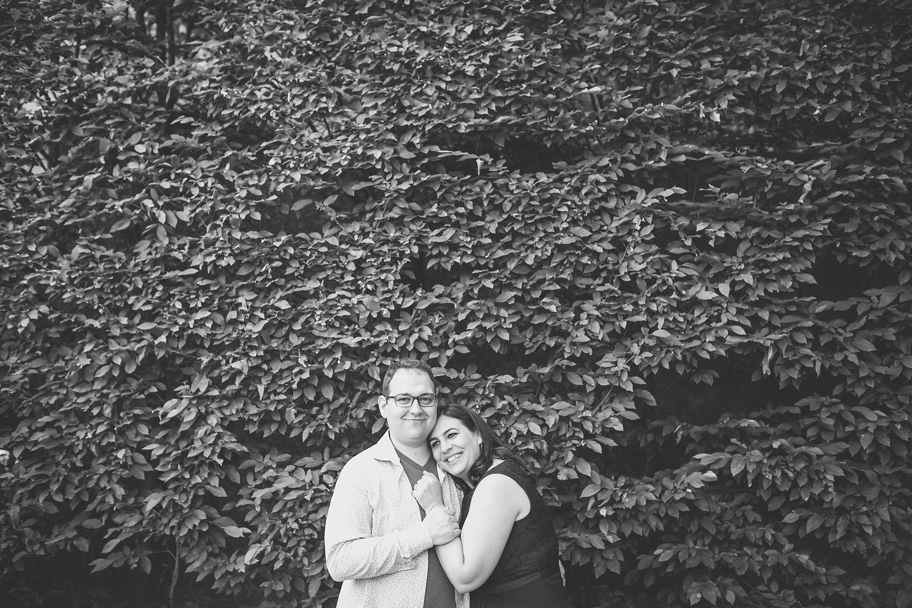 @Amy Sims Photography | New York Wedding Photography | Heather & Ian | Forest Hills | Engagement Shoot | Black & white portrait