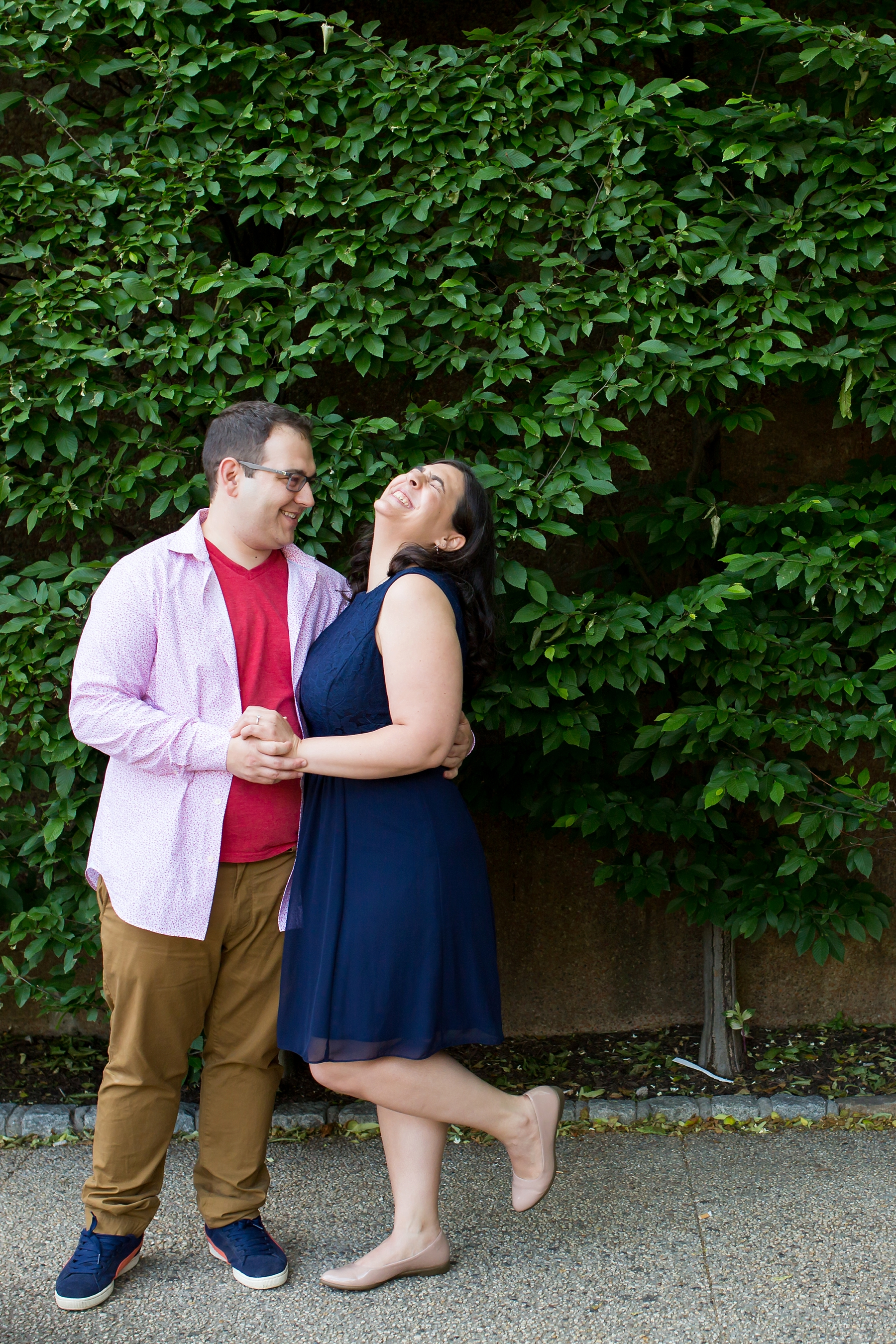 @Amy Sims Photography | New York Wedding Photography | Heather & Ian | Forest Hills | Engagement Shoot | Silly Couple