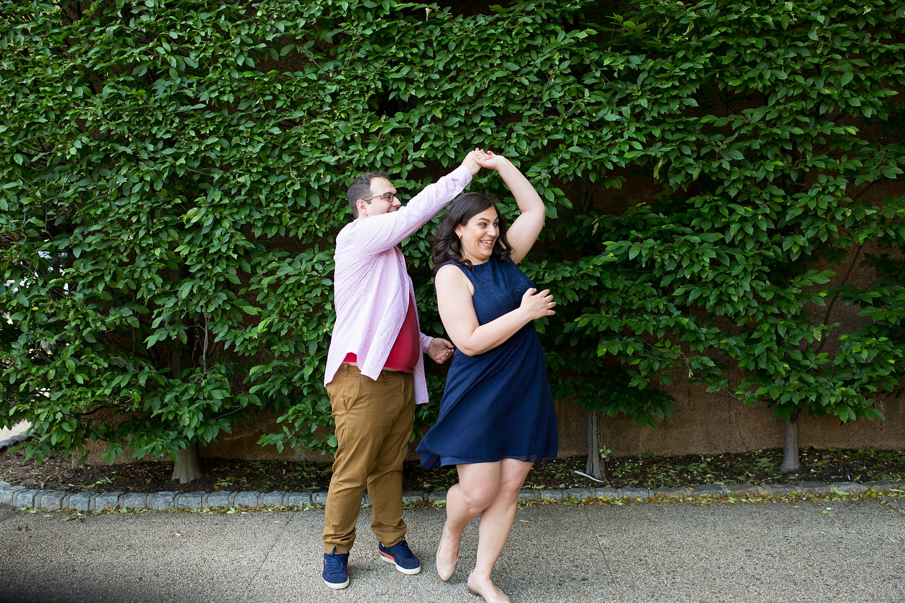 @Amy Sims Photography | New York Wedding Photography | Heather & Ian | Forest Hills | Engagement Shoot | Dancing Couple