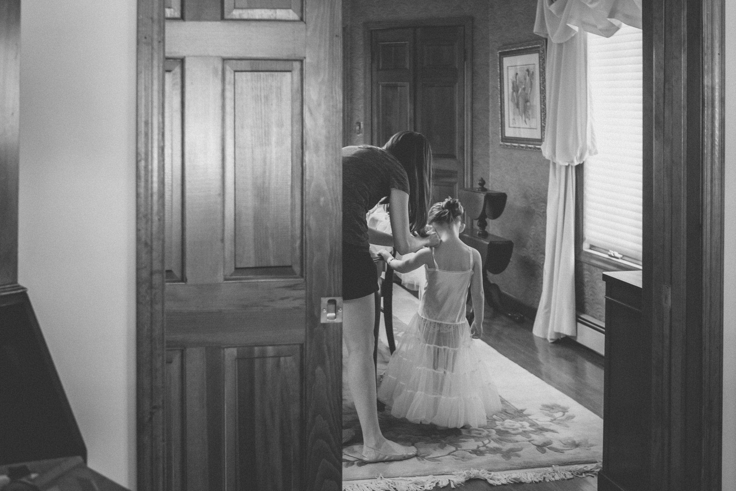 Flowergirl gets ready - Estate at Florentine Gardens wedding - Hudson Valley Wedding - Kelsey & Anish's wedding - Amy Sims Photography