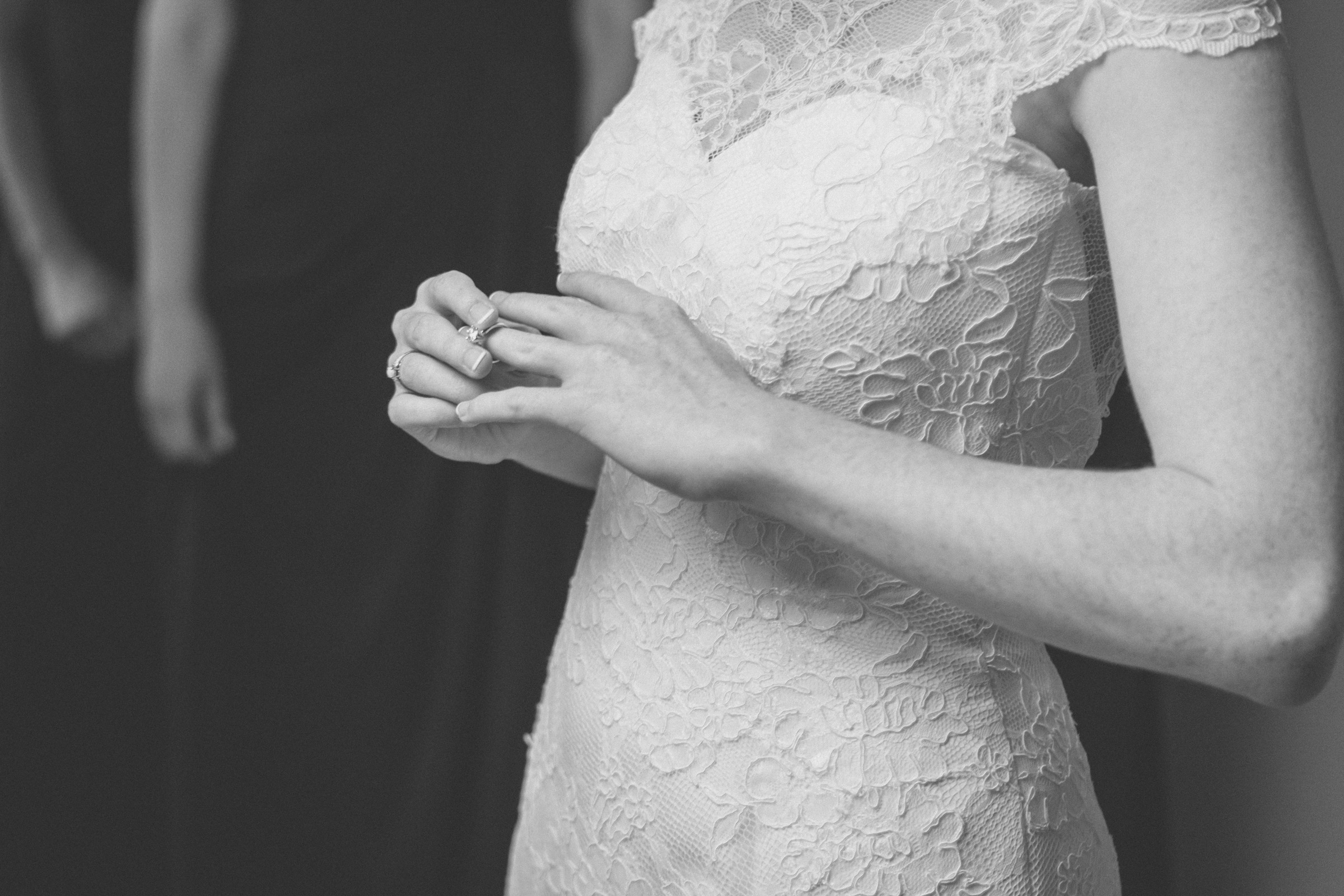 Bride plays with her engagement ring - Estate at Florentine Gardens wedding - Hudson Valley Wedding - Kelsey & Anish's wedding - Amy Sims Photography
