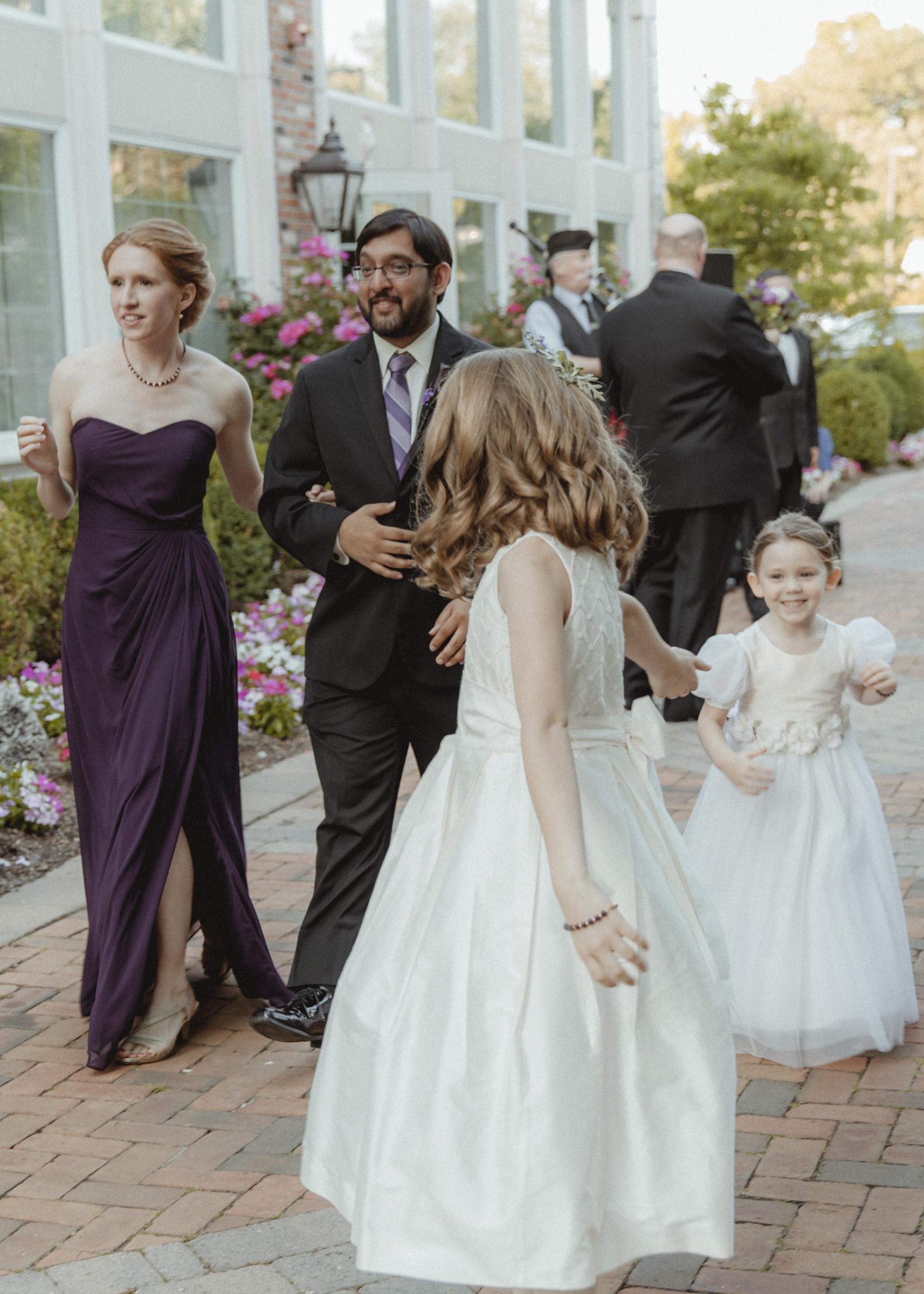 Flowergirls play together - Estate at Florentine Gardens wedding - Hudson Valley Wedding - Kelsey & Anish's wedding - Amy Sims Photography