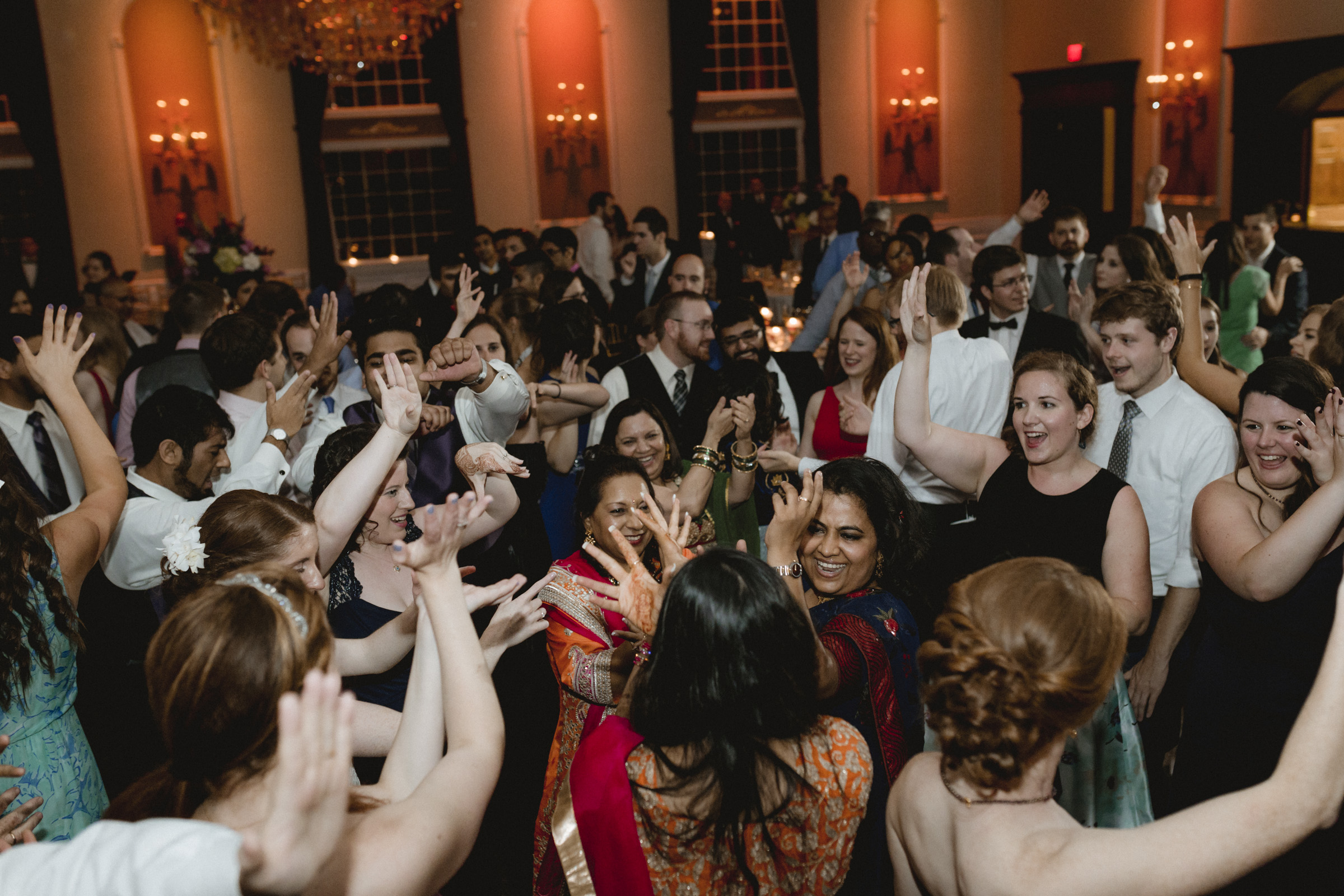 Guests perform indian dance - Estate at Florentine Gardens wedding - Hudson Valley Wedding - Kelsey & Anish's wedding - Amy Sims Photography