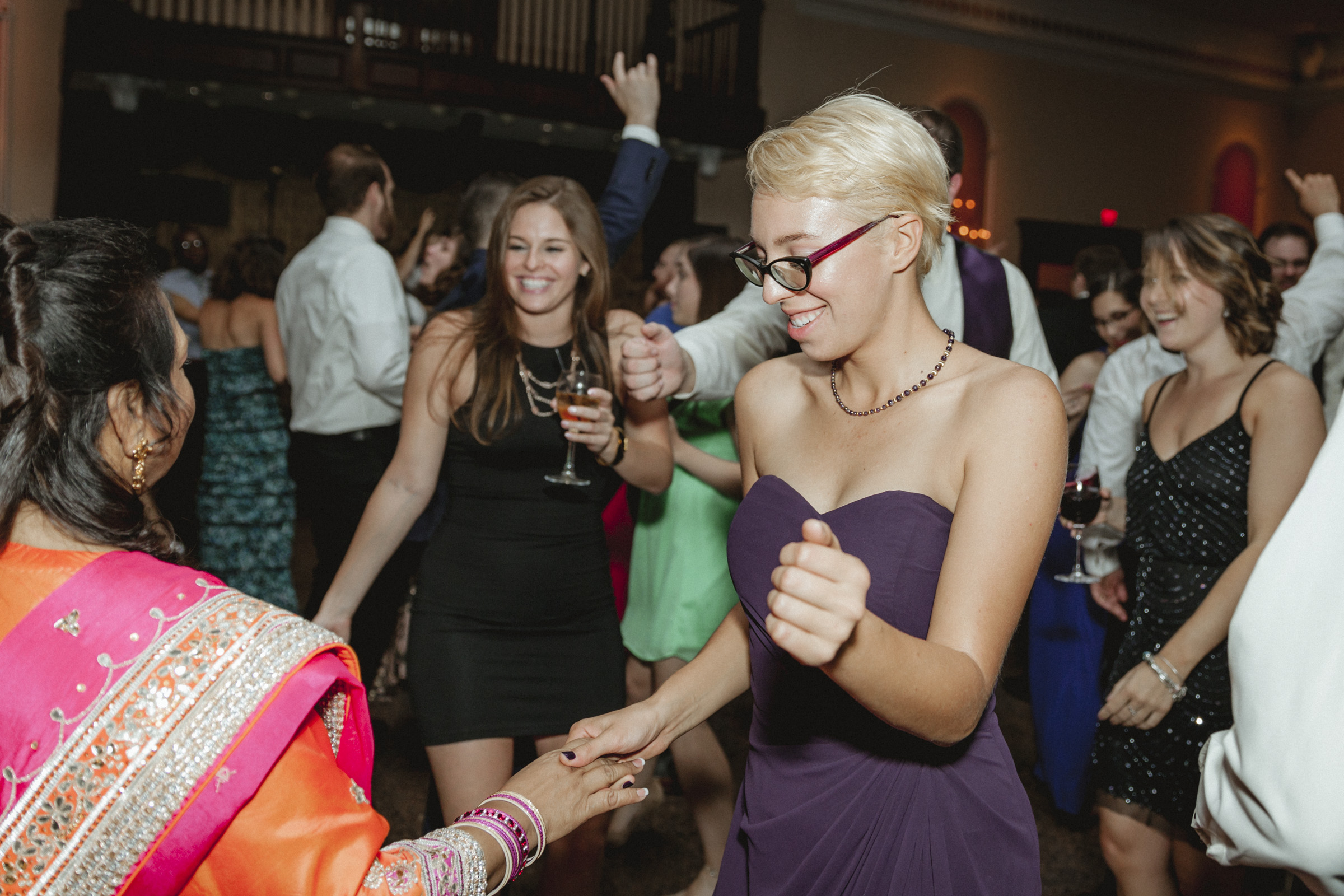 Bridesmaid dances with mother of groom - Estate at Florentine Gardens wedding - Hudson Valley Wedding - Kelsey & Anish's wedding - Amy Sims Photography