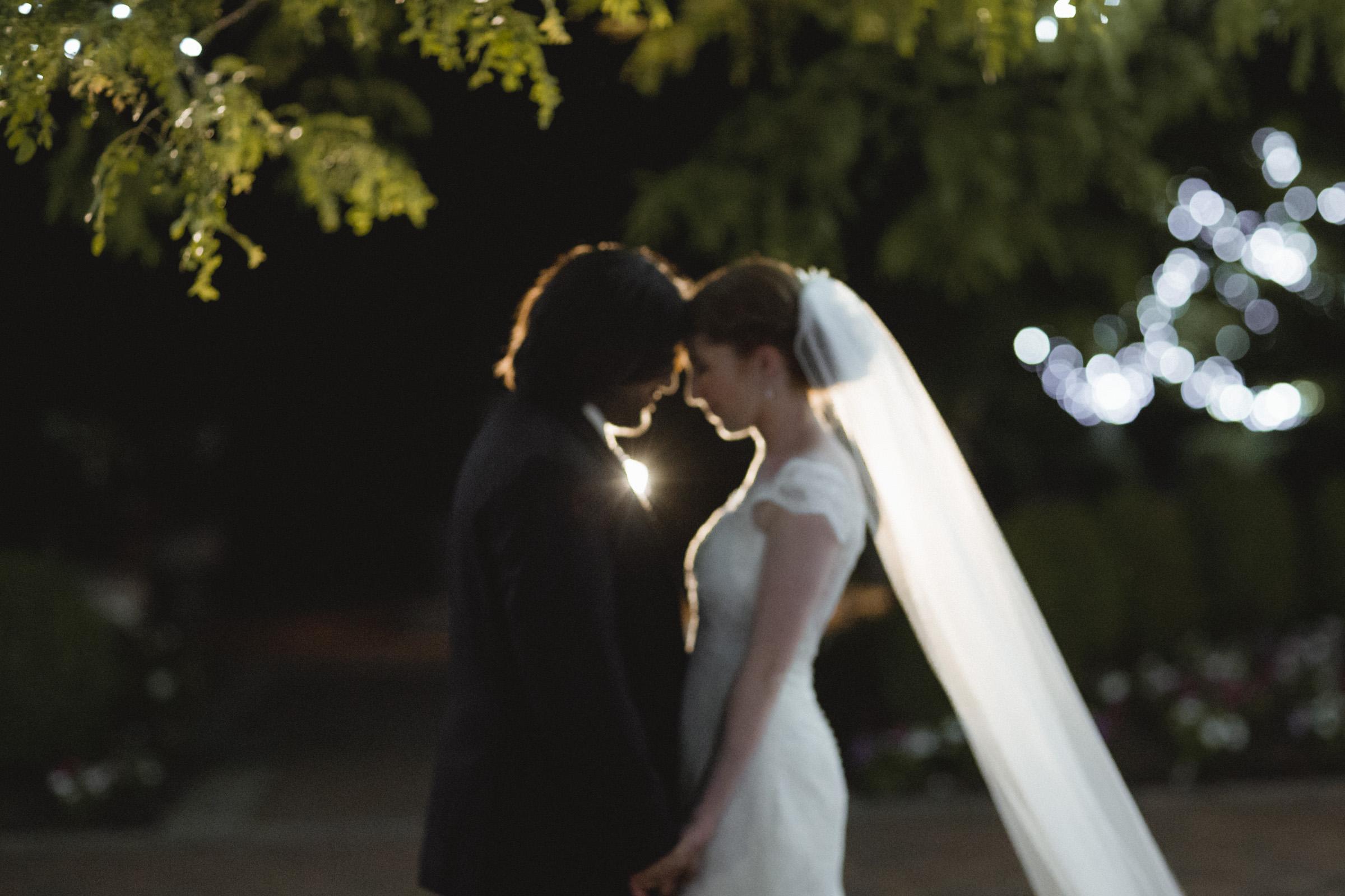 Night Portrait of Couple - Estate at Florentine Gardens wedding - Hudson Valley Wedding - Kelsey & Anish's wedding - Amy Sims Photography