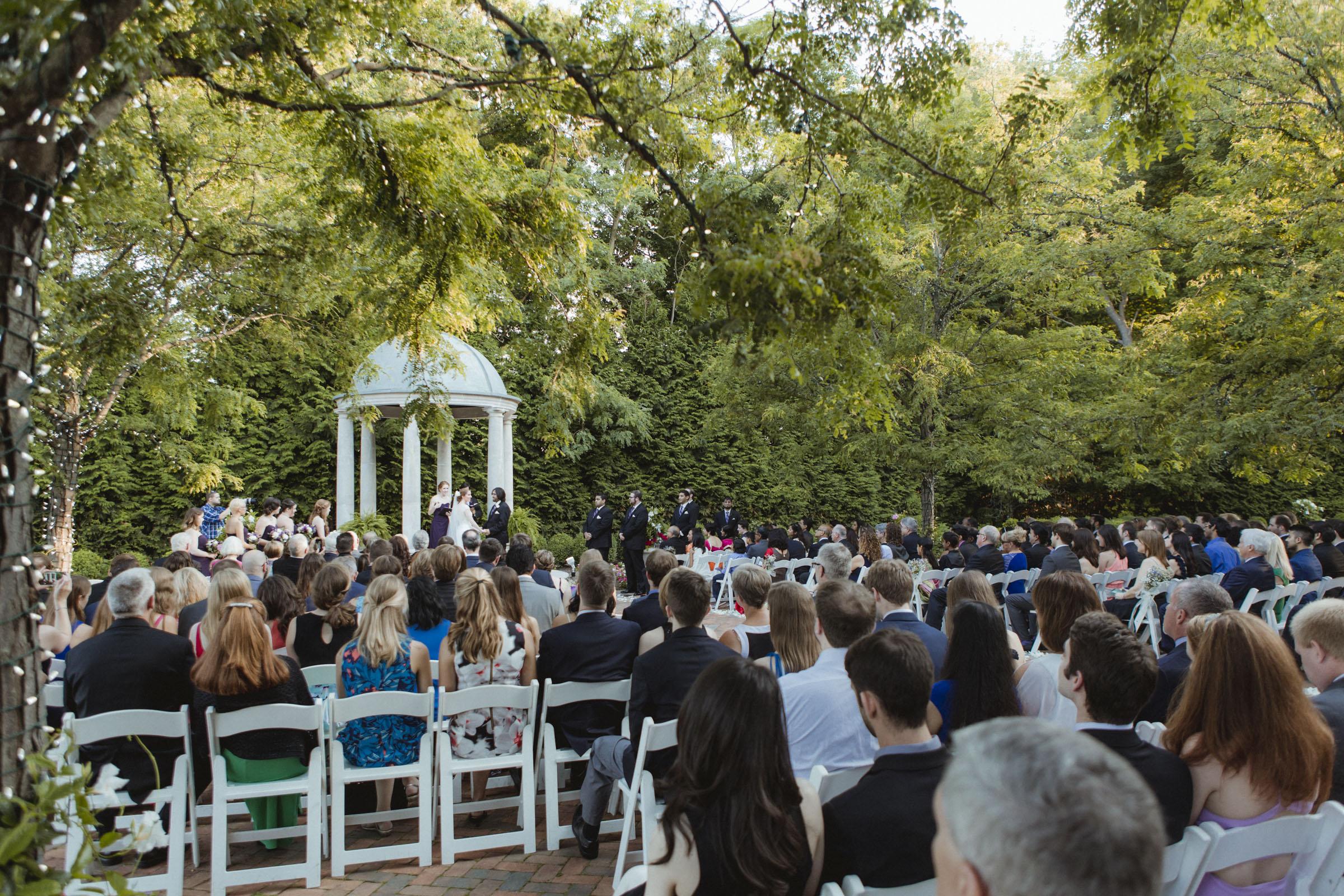 Wide shot of ceremony - Estate at Florentine Gardens wedding - Hudson Valley Wedding - Kelsey & Anish's wedding - Amy Sims Photography