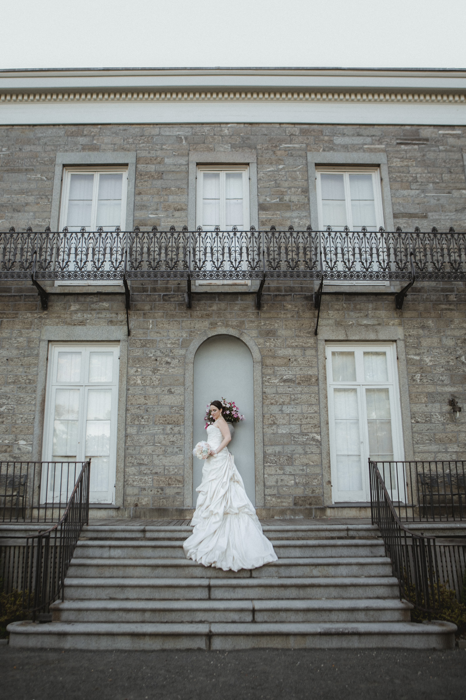 Bride poses in her Maggie Sottero gown | | Bartow-Pell Mansion wedding | Manhattan wedding | Bronx Wedding | Cathy & Antonello's wedding | Amy Sims Photography