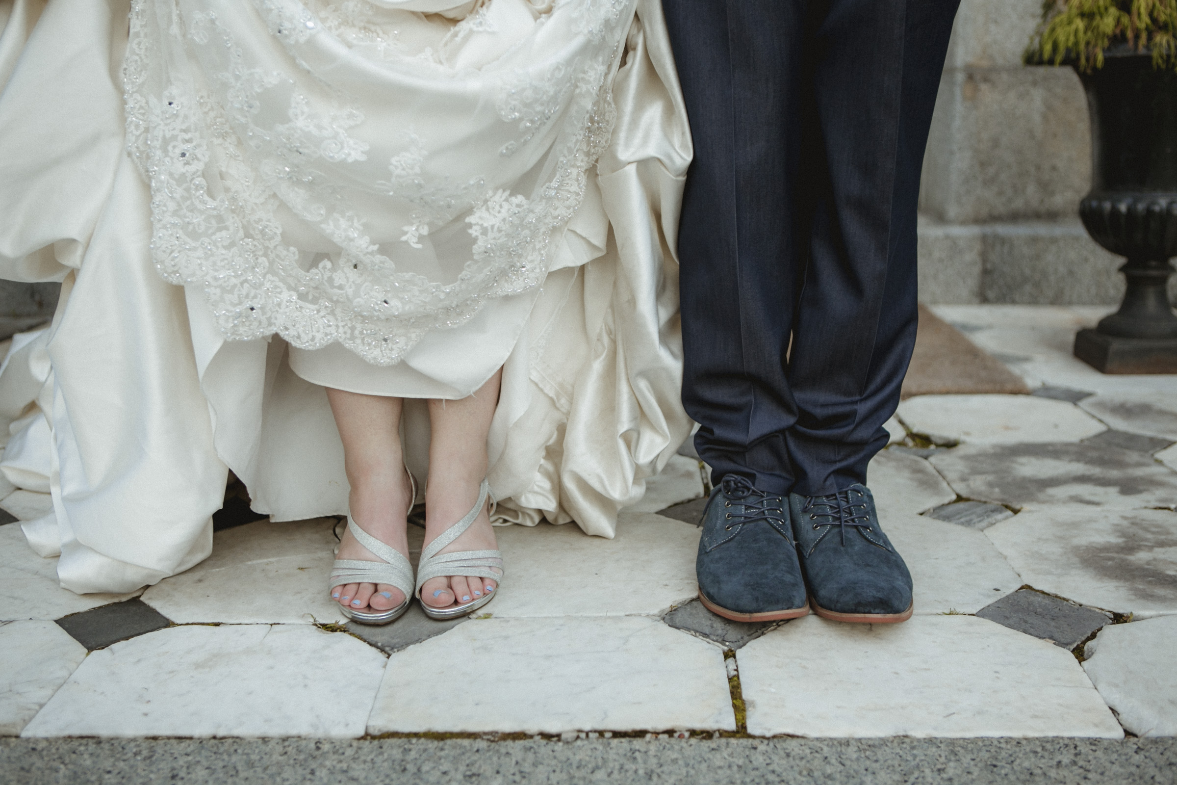 Close up of bride & groom's shoes | Bartow-Pell Mansion wedding | Manhattan wedding | Bronx Wedding | Cathy & Antonello's wedding | Amy Sims Photography