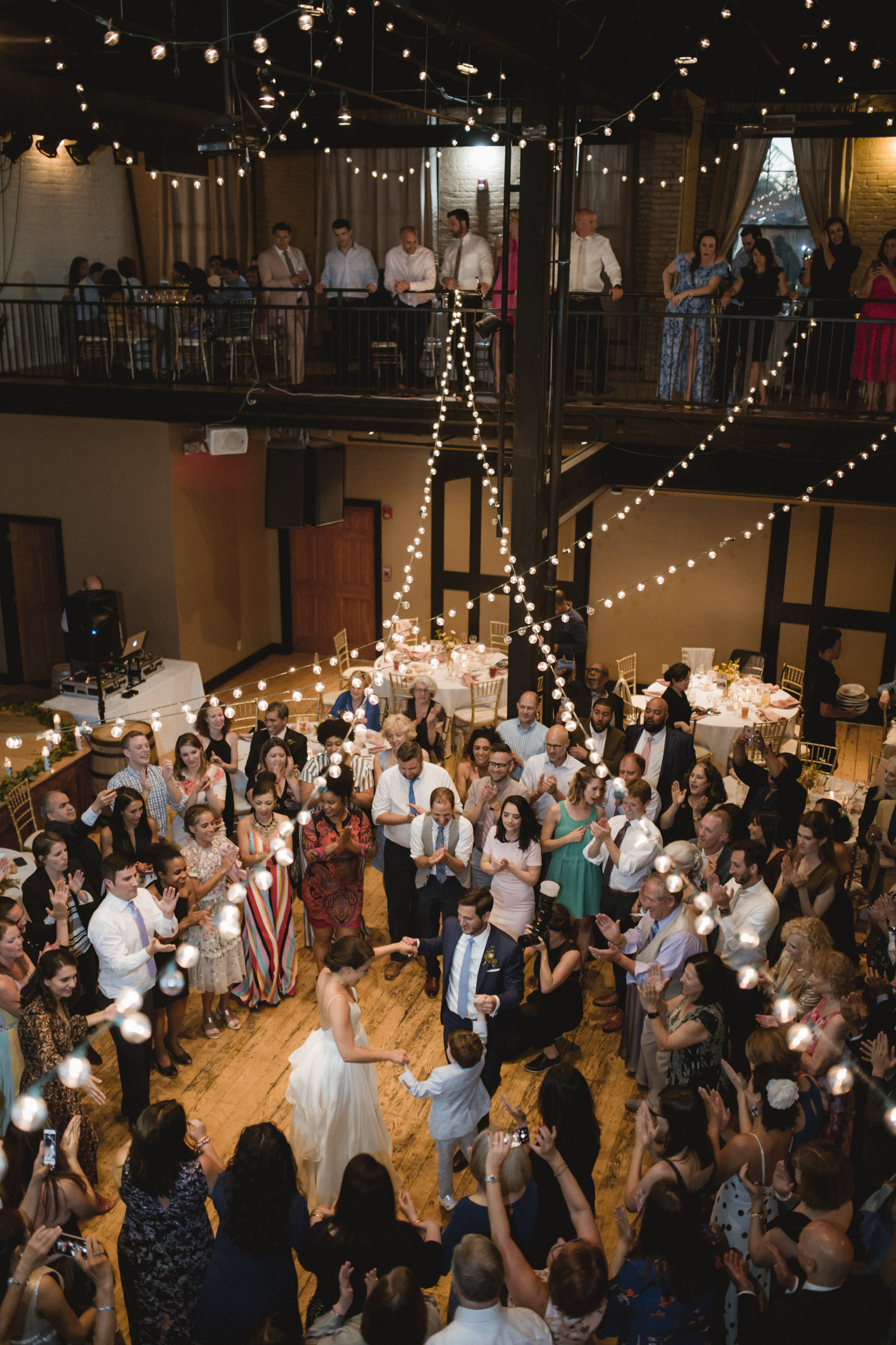 Amy Sims Photography | bride and groom dance the Hora with ring bearer surrounded by guests | New York Wedding Photographer | Upstate New York Wedding photographer