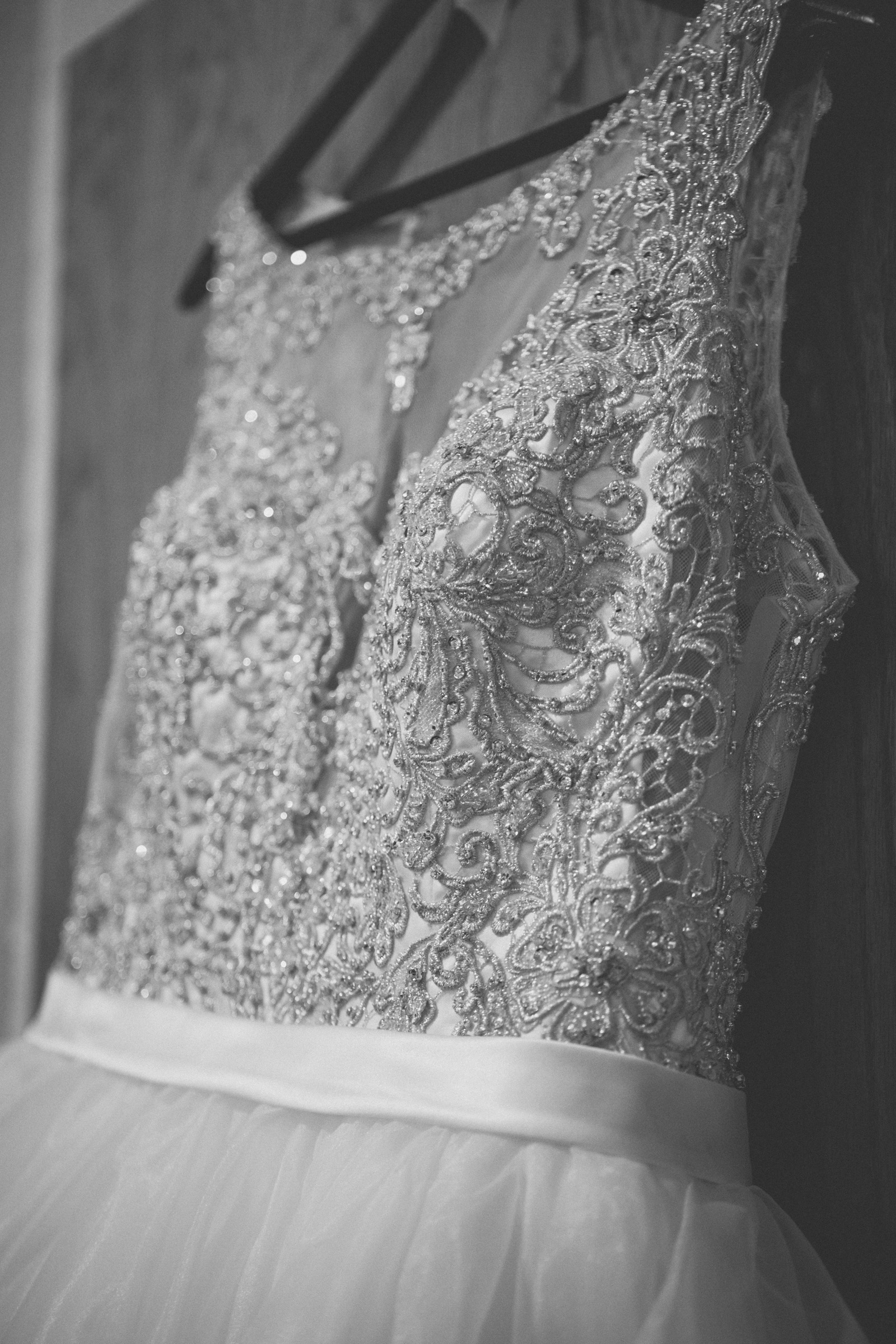 Amy Sims Photography | Detail of Allure Bridal gown  | New York Wedding Photographer | Brooklyn Church Wedding