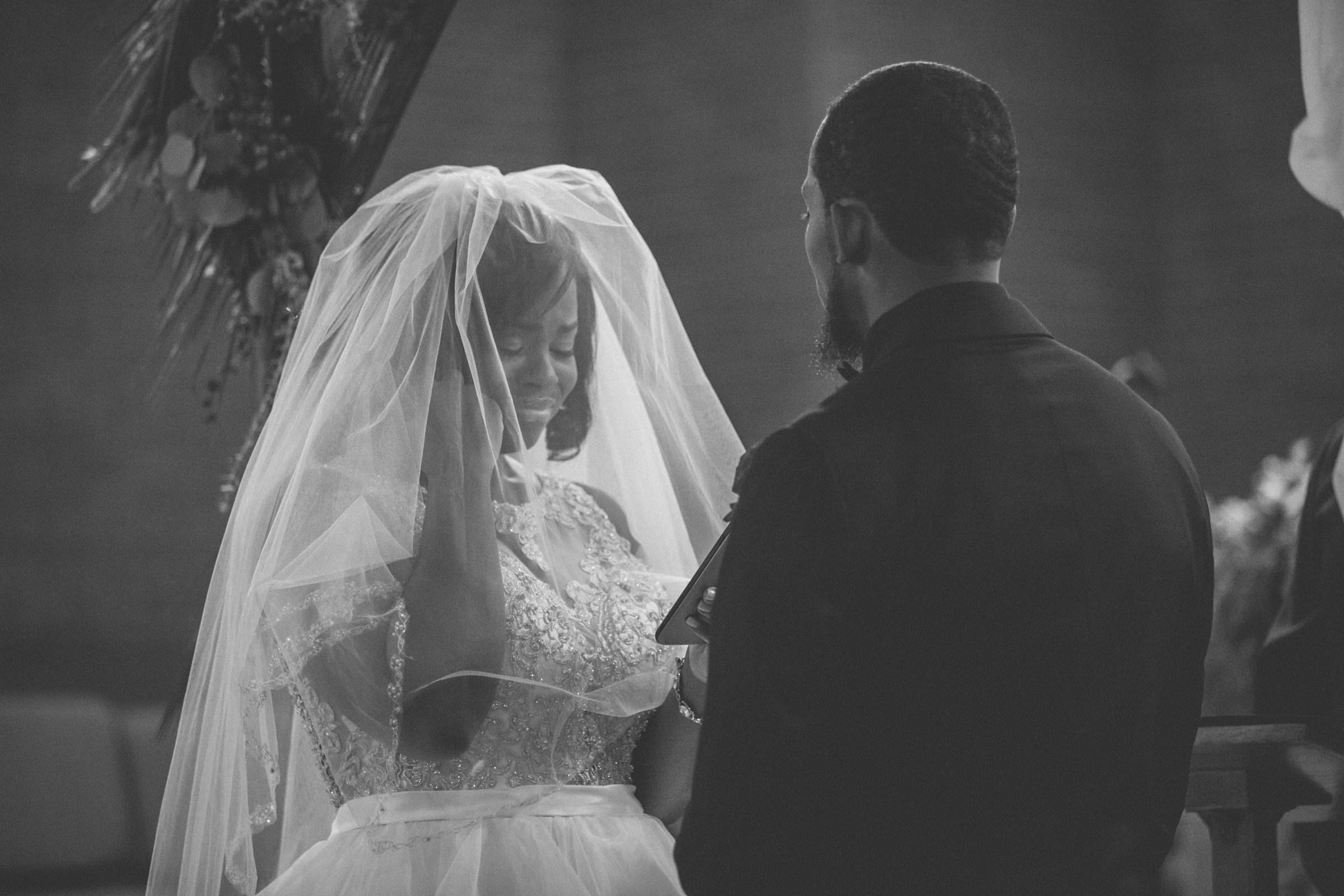 Amy Sims Photography | Bride cries during her vows | Greater St. Stephen United Church of God | New York Wedding Photographer | Brooklyn Church Wedding