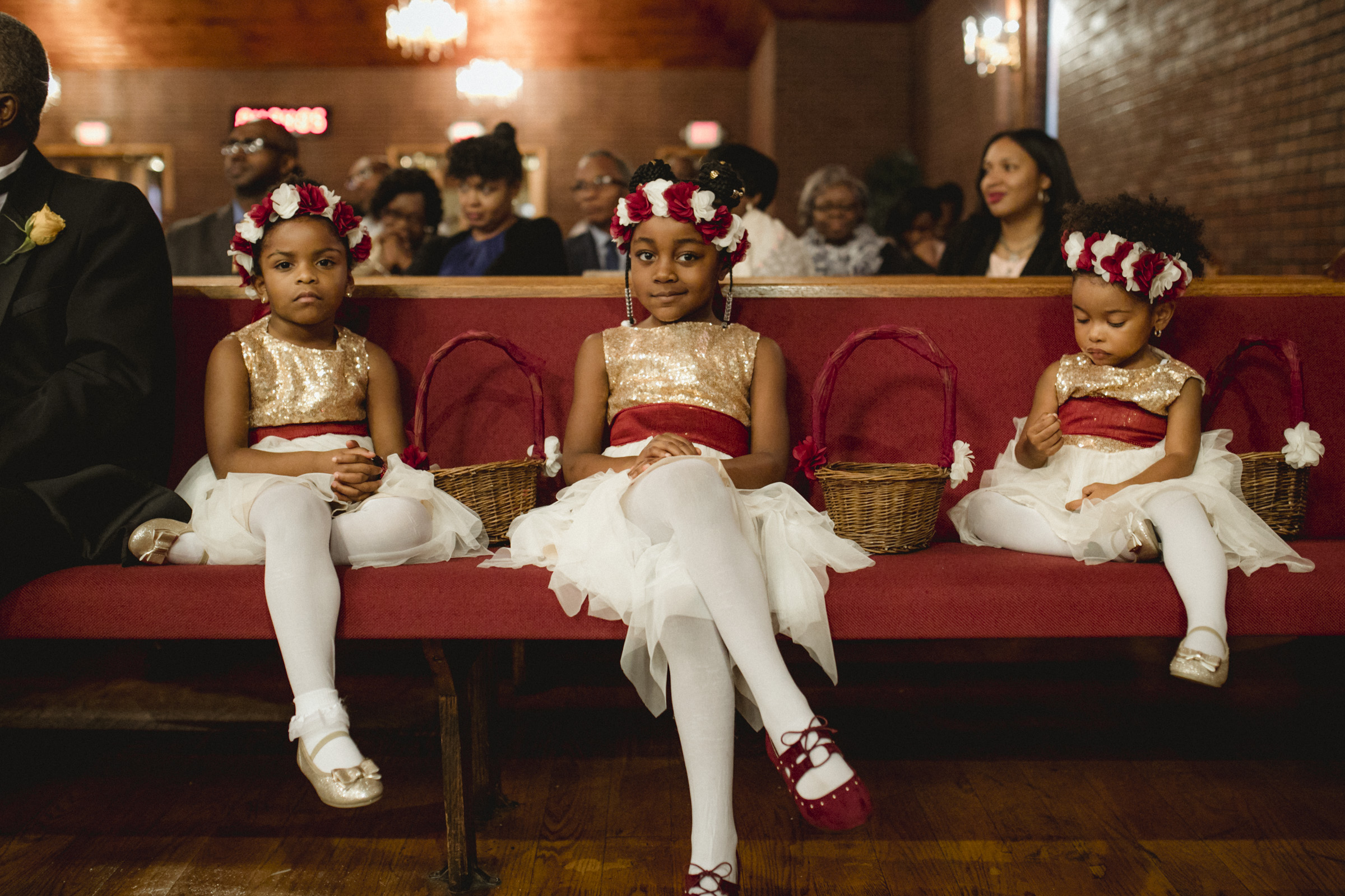 Amy Sims Photography | Flower girls with attitude | Greater St. Stephen United Church of God | New York Wedding Photographer | Brooklyn Church Wedding
