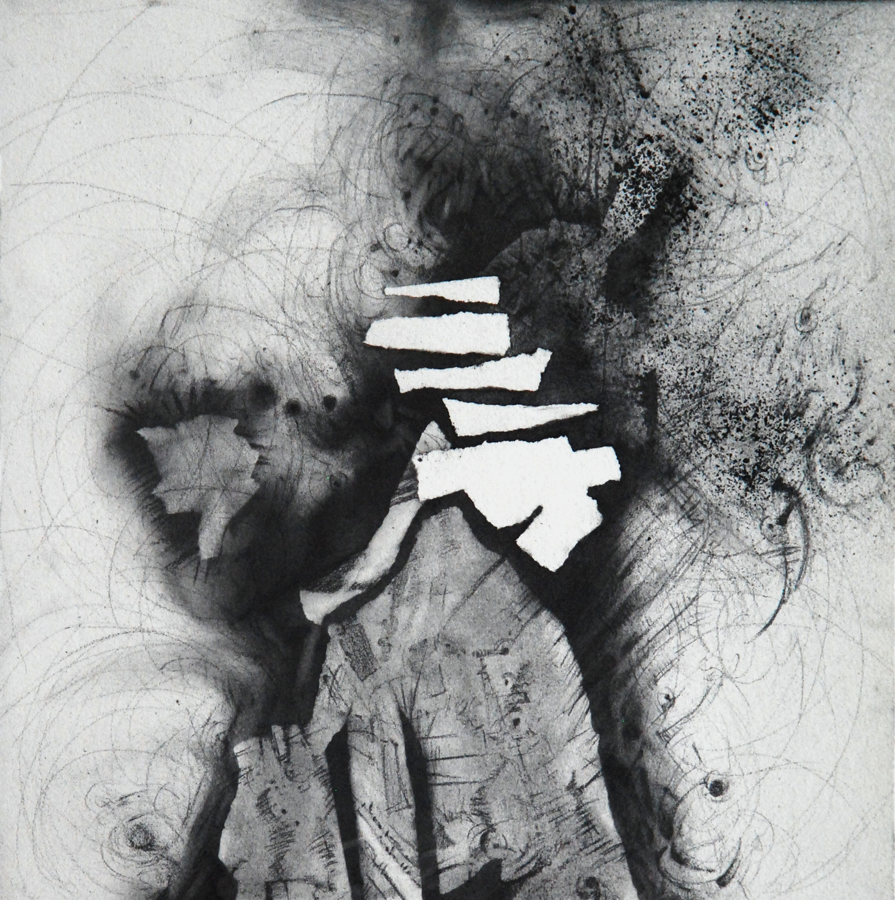 "Intercessions VII, 12"" x 12"", Graphite on Rives, 2013"